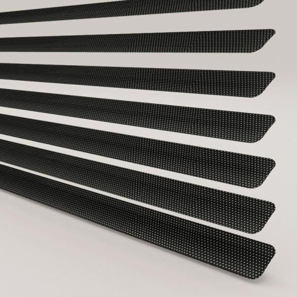 INTU Blinds 25mm Venetian Blinds Perforated Satin Black