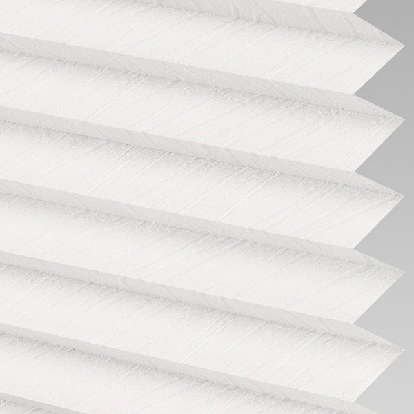 INTU Blinds Chenille asc White Pleated Blinds