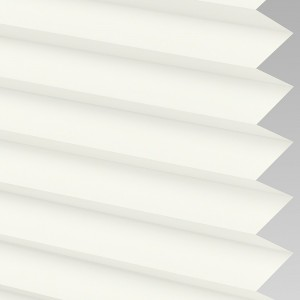 INTU Blinds Infusion asc Fire Retardant White Pleated Blinds