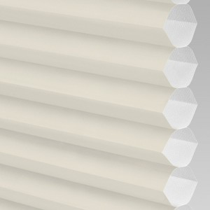 INTU Blinds Hive Plain Cream Cellular Blinds Close Up