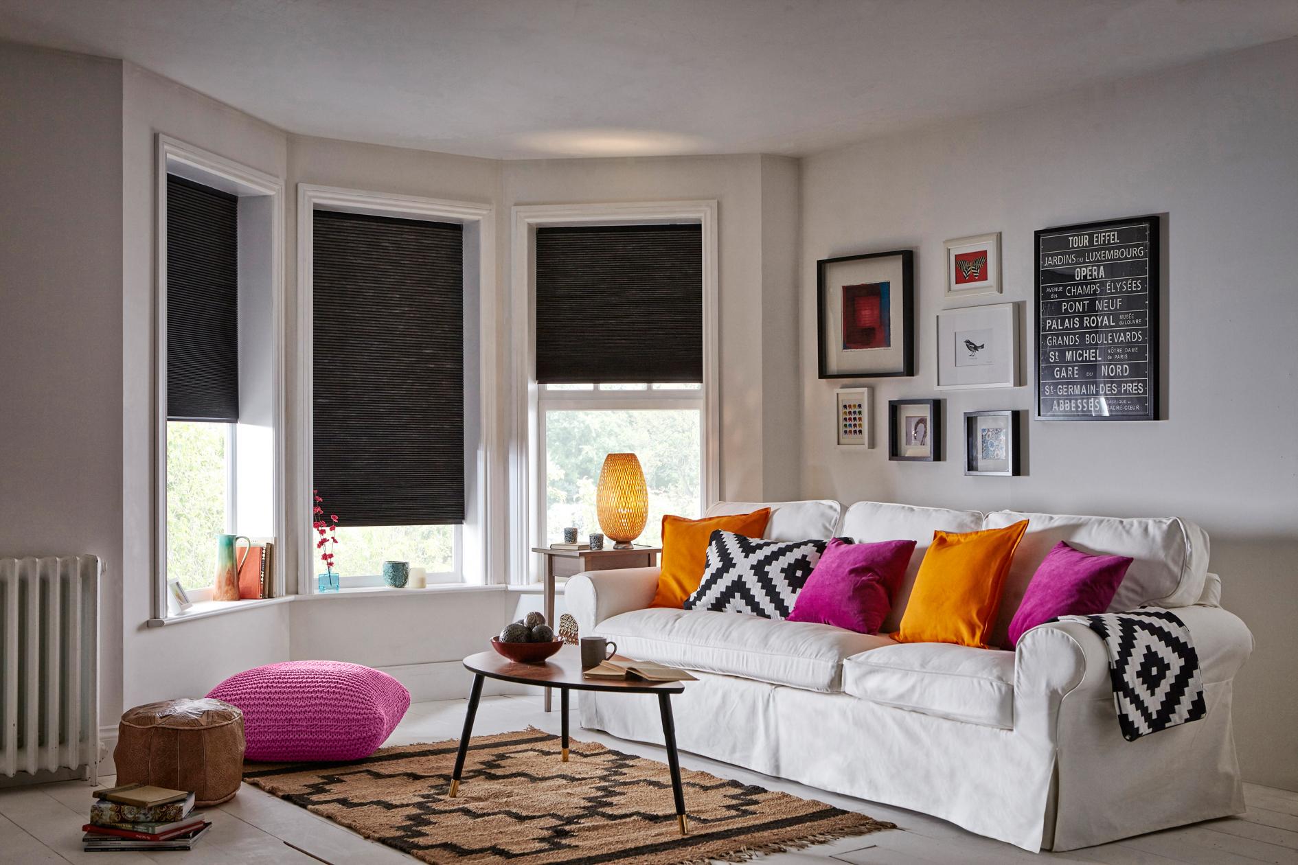 INTU Blinds Hive Blackout Black Living Room Blinds
