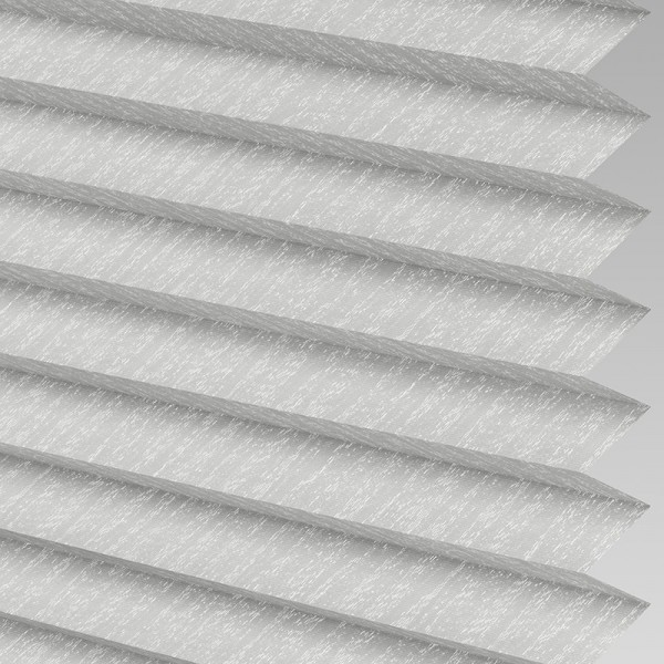 INTU Blinds Ribbons asc Micro Silver Pleated Blinds