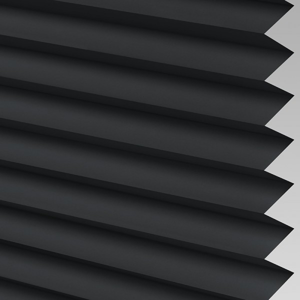 INTU Blinds Ribbons asc Micro Black Pleated Blind