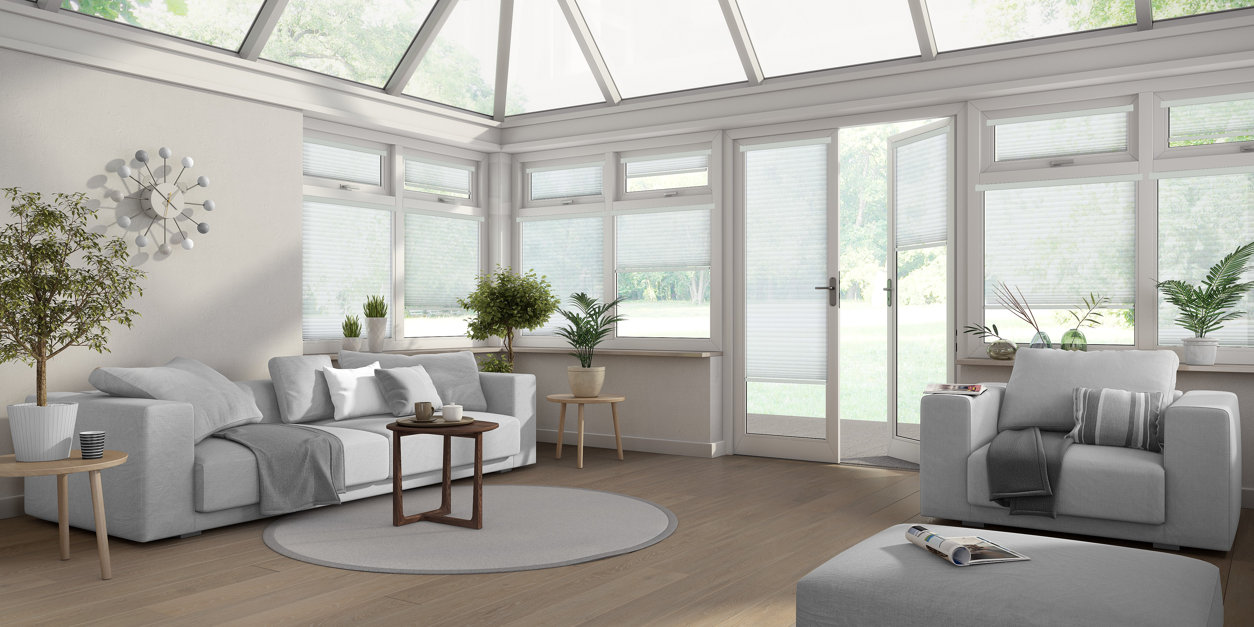 INTU Blinds Hampton White Venetian Conservatory Blinds
