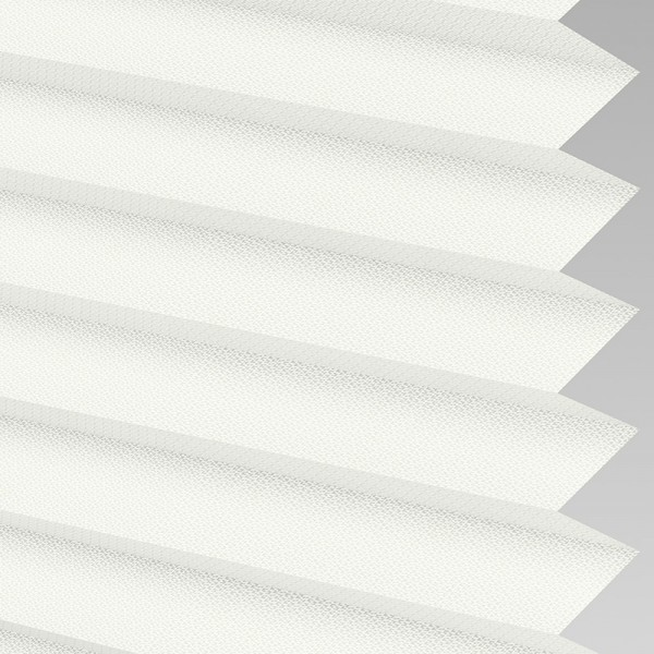 INTU Blinds Calia asc Fire Retardant Optic White Pleated Blinds
