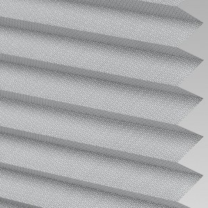 INTU Blinds Calia asc Fire Retardant Charcoal Pleated Blinds
