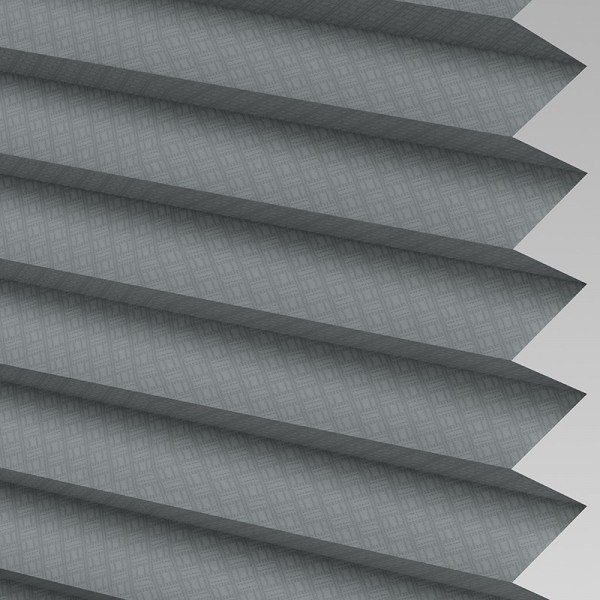 INTU Grid Graphite Pleated Blinds