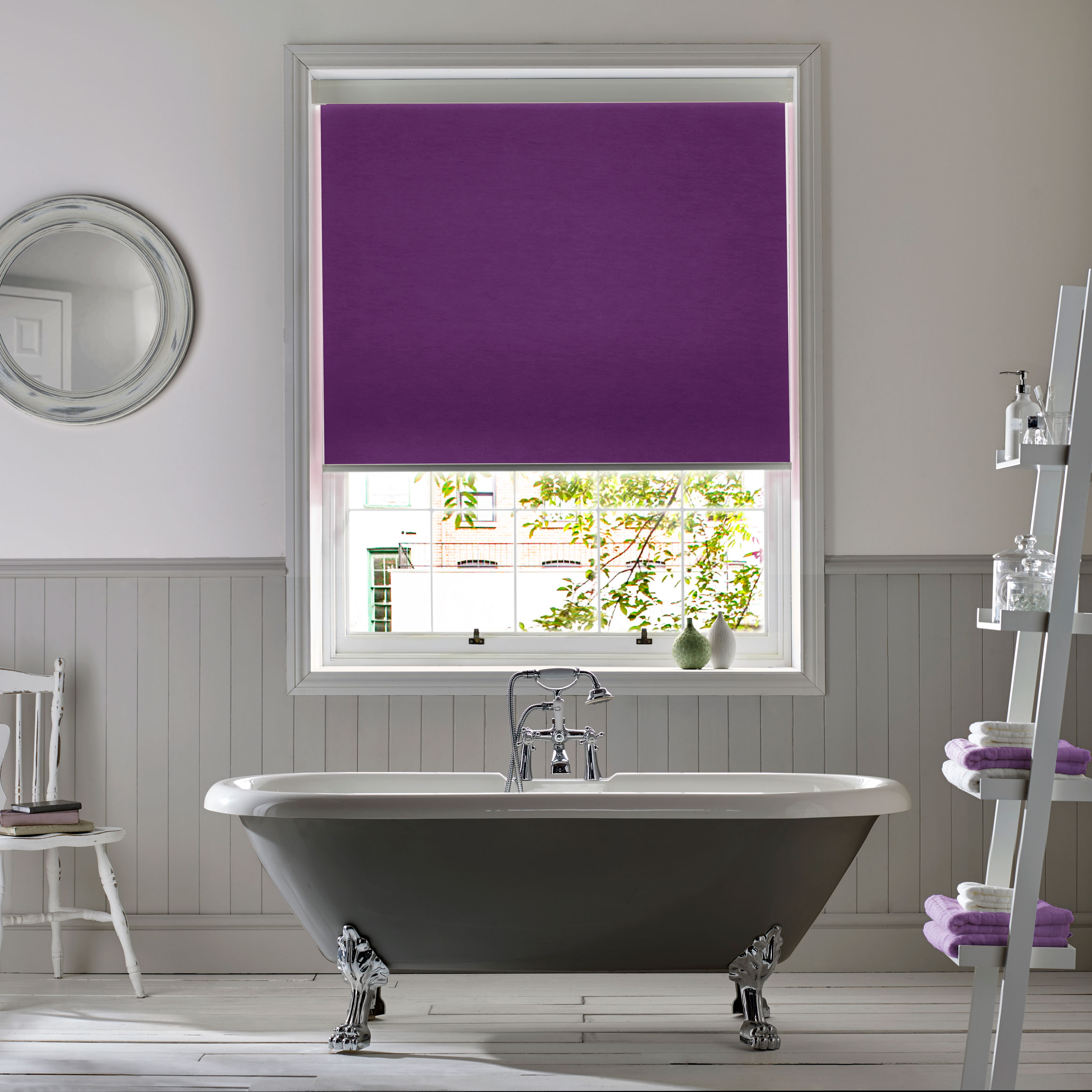 INTU Blinds Polaris Violet Bathroom Roller Blinds