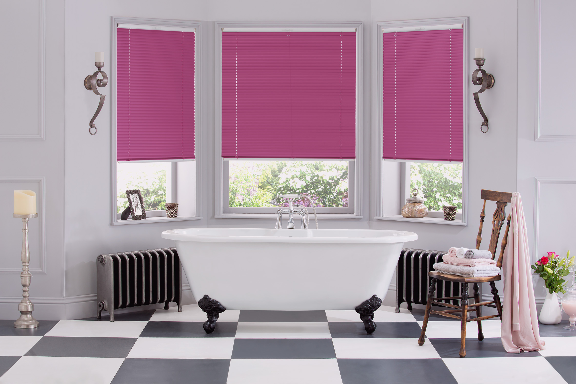 INTU Blinds Blush Venetian Bathroom Blinds Closed