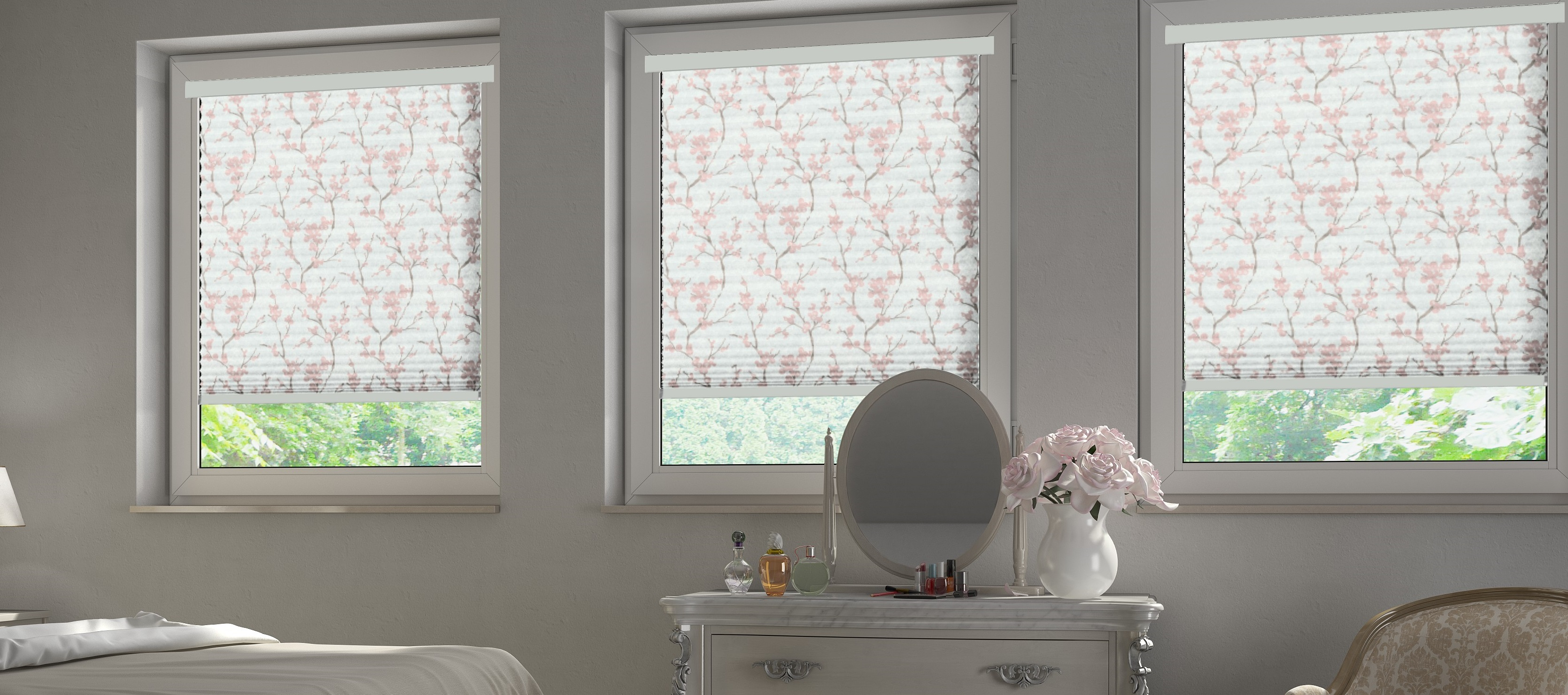 INTU Blinds Sakura Pink Bedroom Blinds