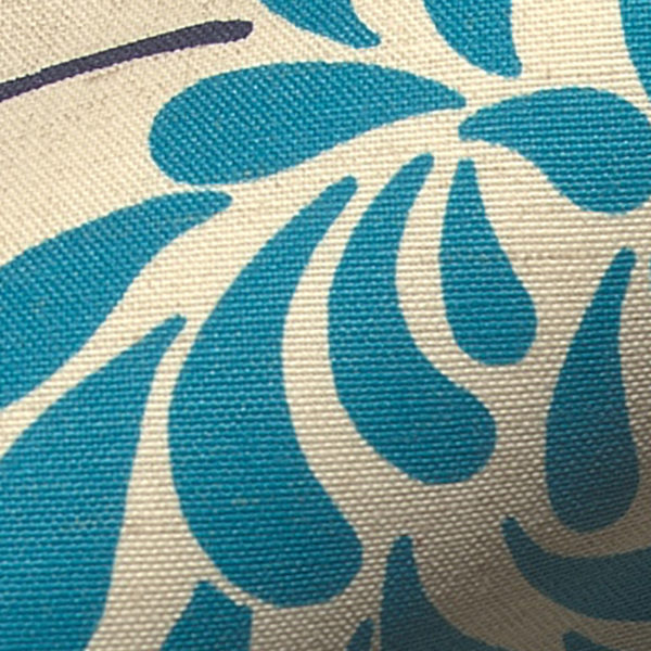 INTU Blinds Chrysanth Teal Roller Blinds Close Up